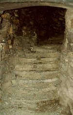 Stairway contained in the thickness of the broch's double walls.