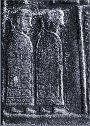 Detail of the tonsured monks.