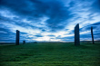 Stones of Stenness lit by moonlight before dawn, Autumn 2011
