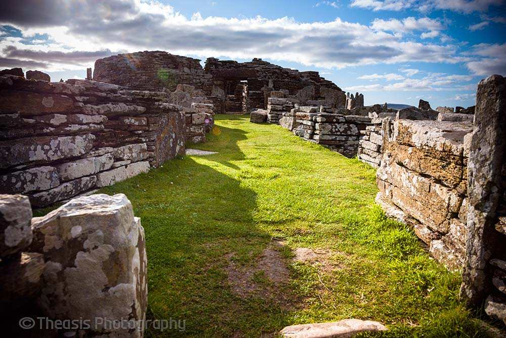 Looking west into the entrance to the broch.