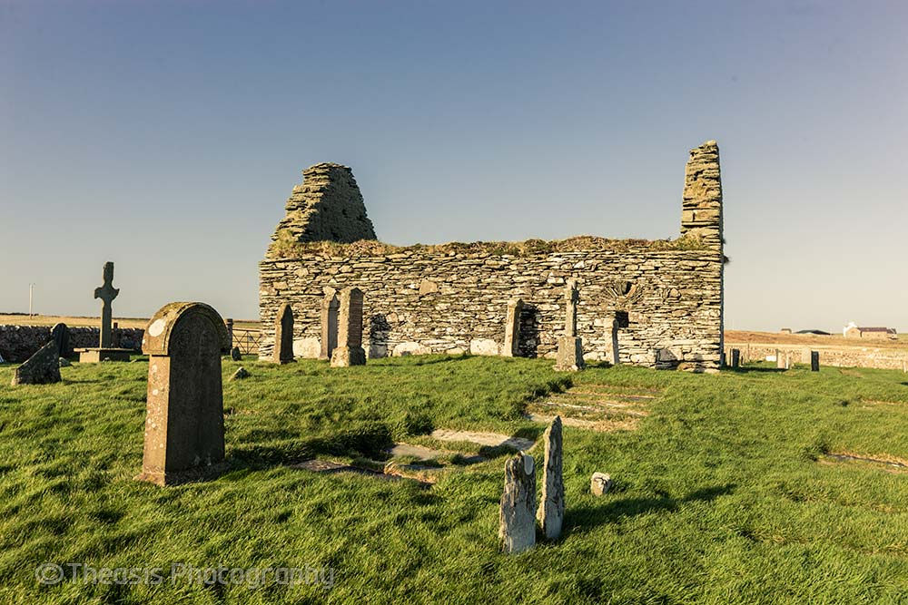 Kilnave chapel from the south.