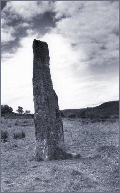 Looking southwest.  The standing stone at Upper Fernoch is just a little way over the rise.