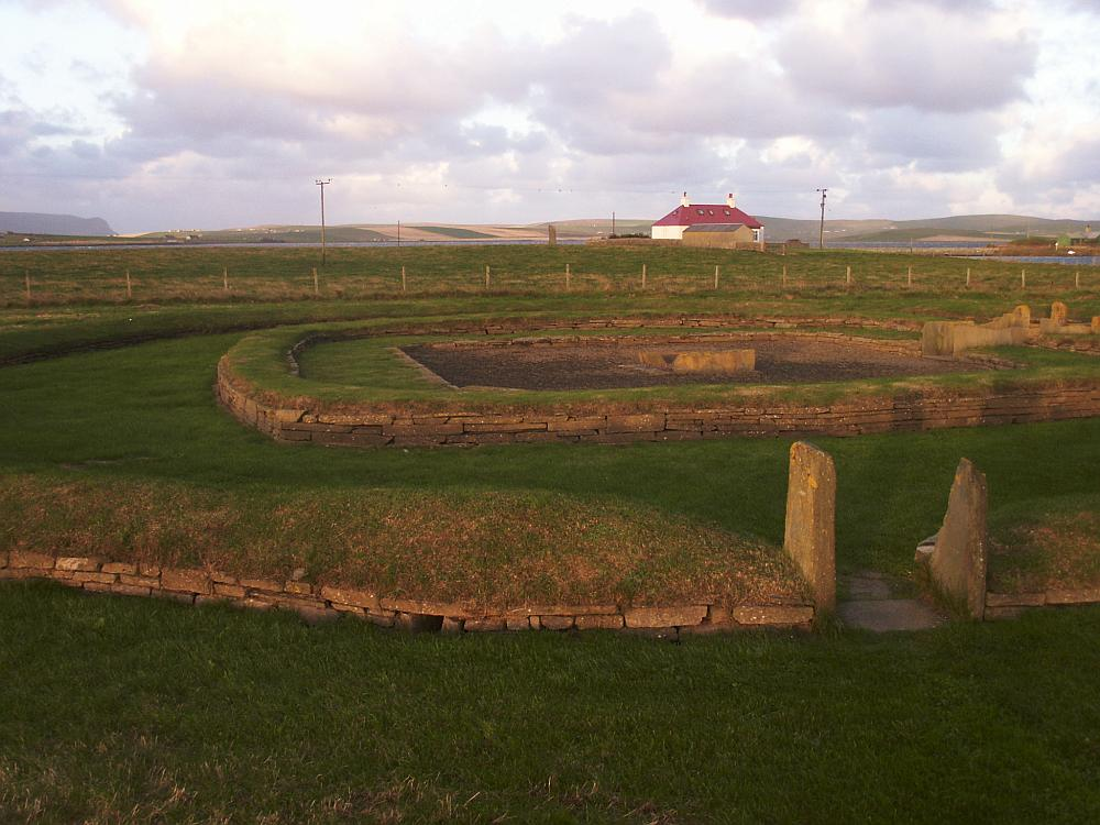 Structure 8.  The Watchstone can be seen in the distance behindthe structure, to the left of the farmhouse.