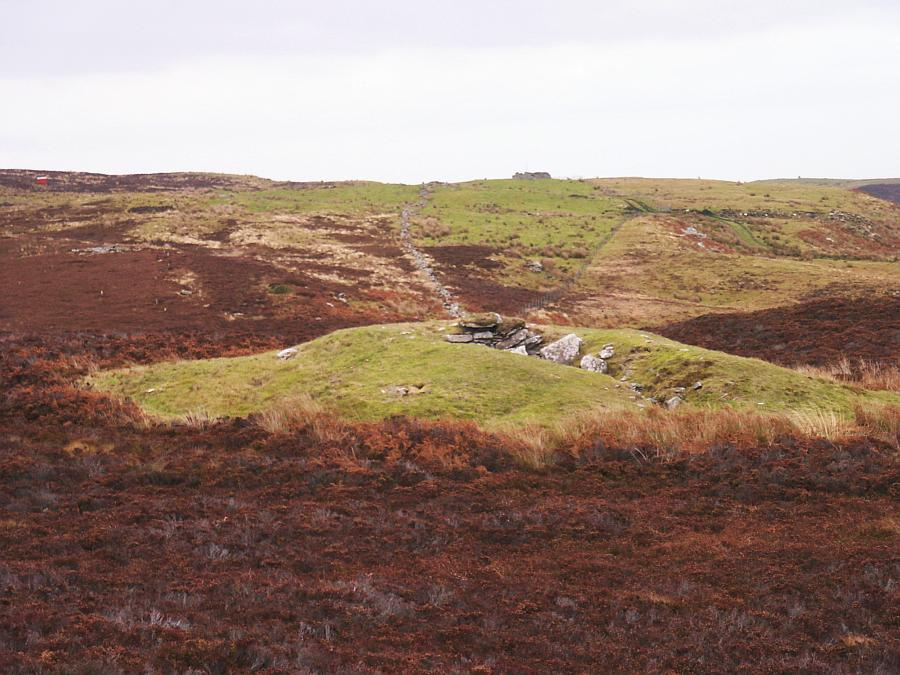 Looking down on the cairn from the south.