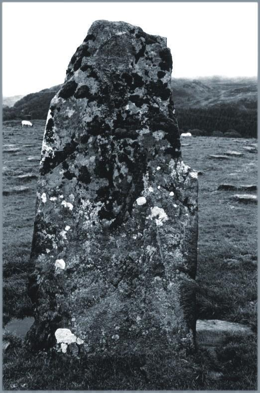 The southerly stone, looking east.
