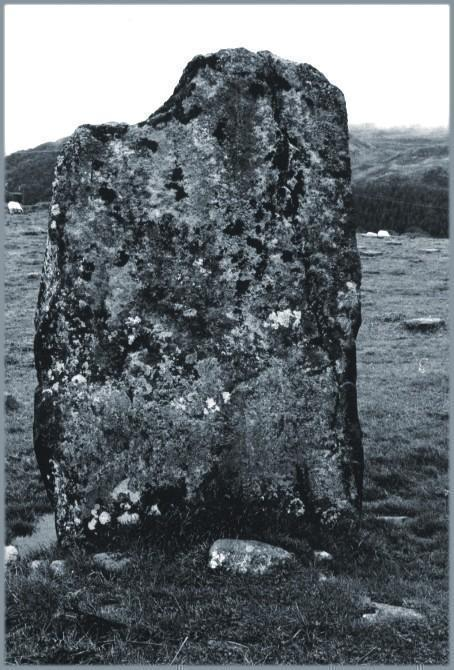 The northerly stone, looking east.
