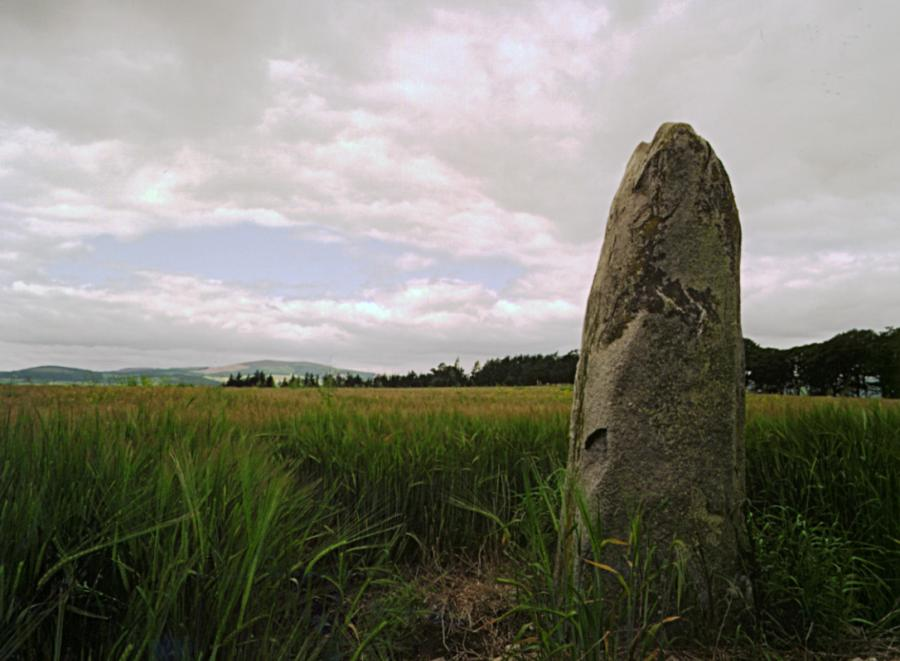The southwesterly stone, looking west.