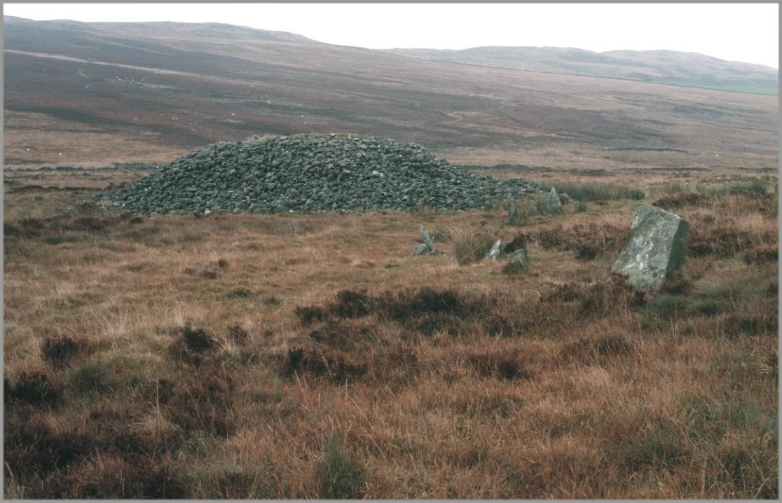 The circle and cairn, looking north east.