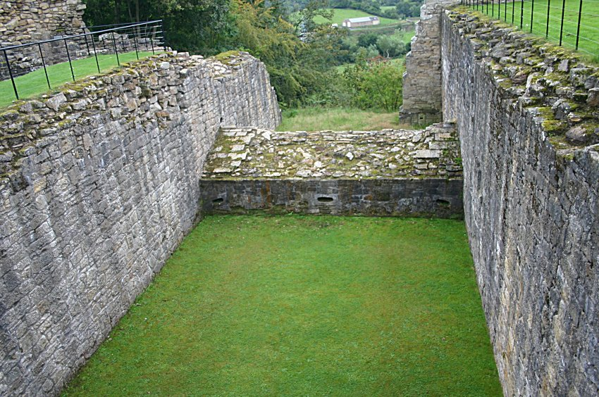 The defensive ditch and caponier, unique in Britain.