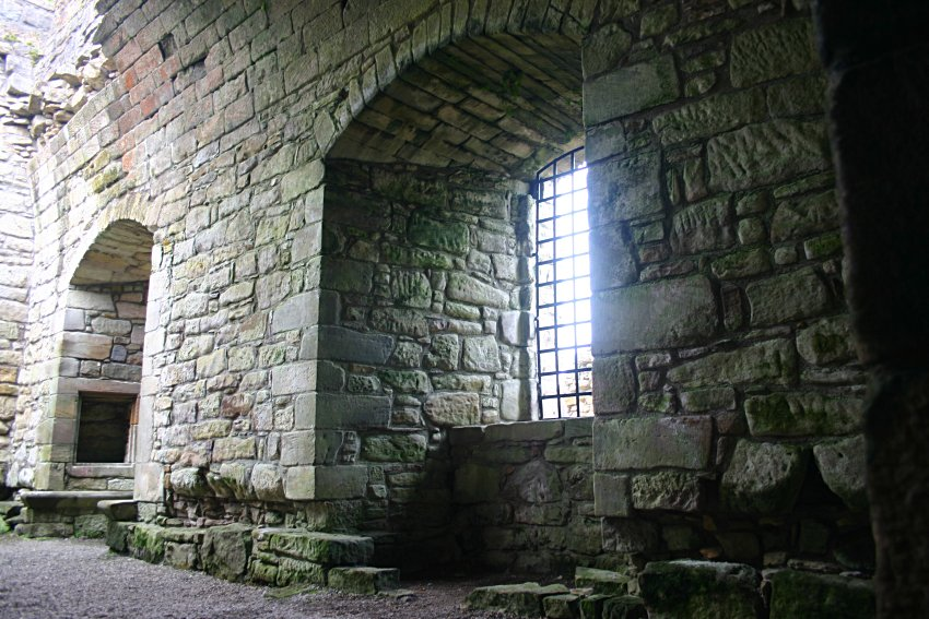 Remains of the vaulted hall in the keep tower.