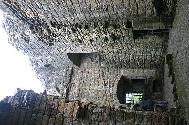 Remains of the vaulted hall in the keep tower
