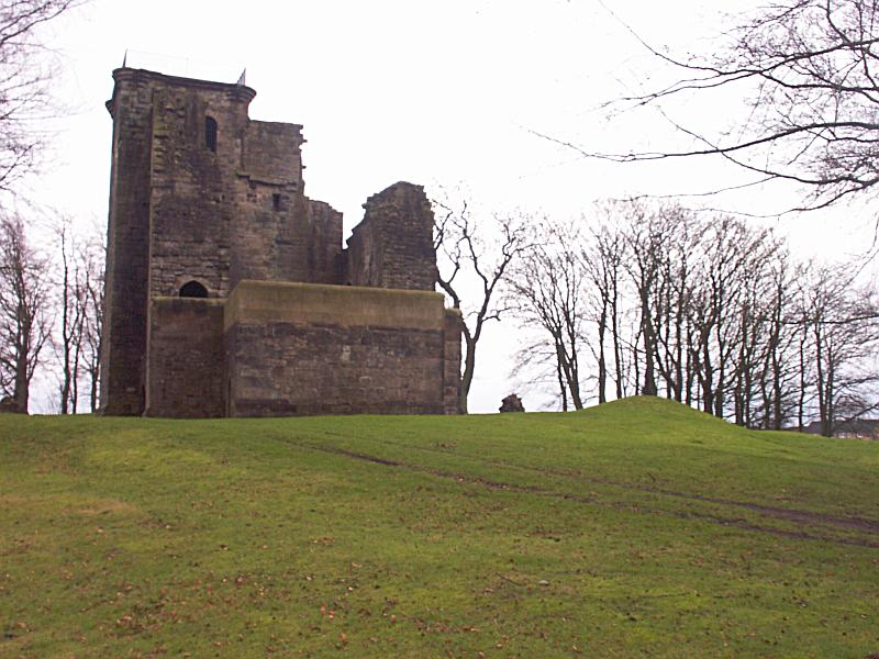 A view from the west.  There's nothing at all to see of remains of the northwest tower.