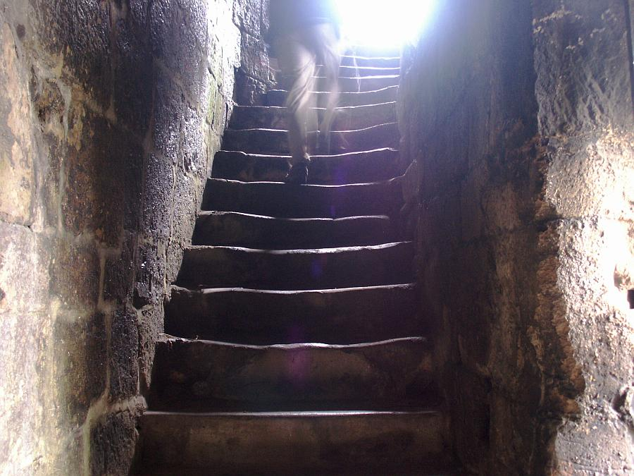 Steps up to the great hall.