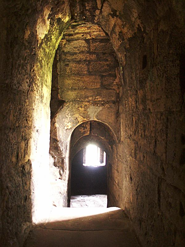 Passage from the great hall to the northeast tower.
