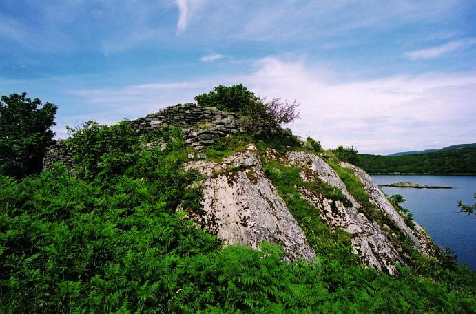 The eastern cliff and southern dun wall, looking north.