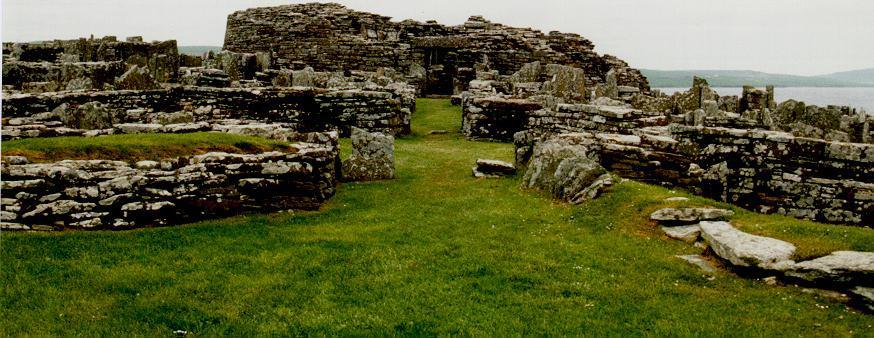 Looking west into the entrance to the broch