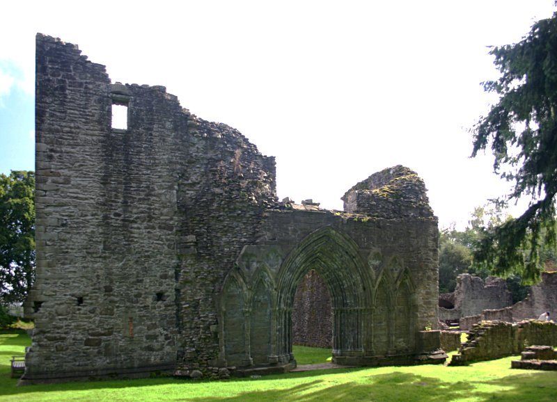 Looking east to the entrance of the nave, with the bell tower to the left of the doorway.