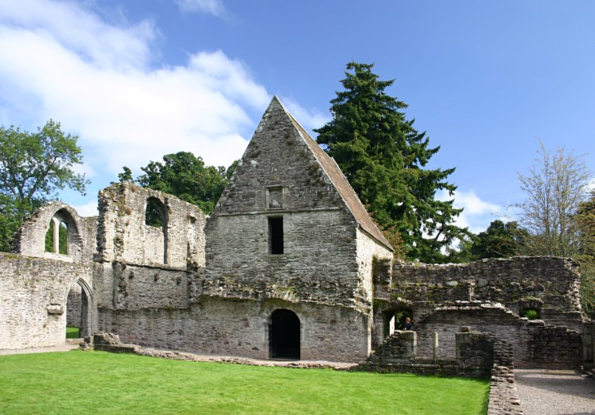 Looking across the cloister to the chapter house, later turned into a mausoleum.