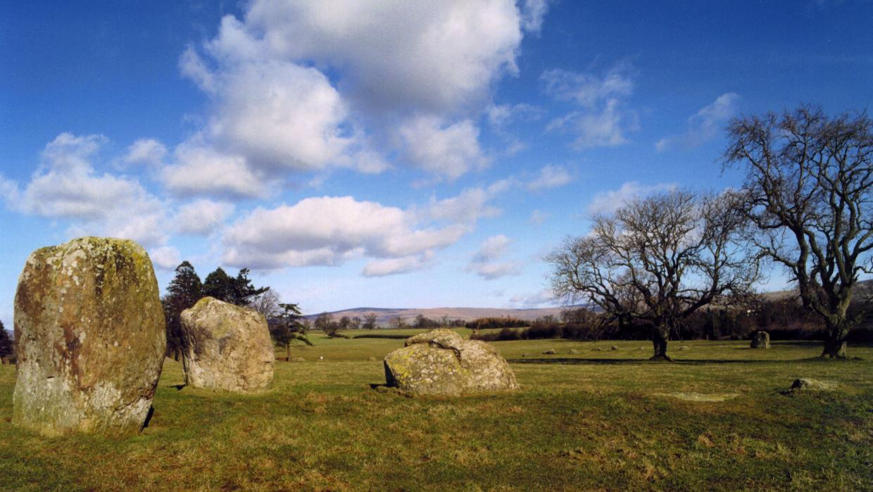At the southwest this group of stones form an entrance to the circle