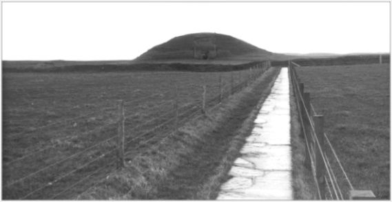 Looking north-east towards then entrance of Maeshowe