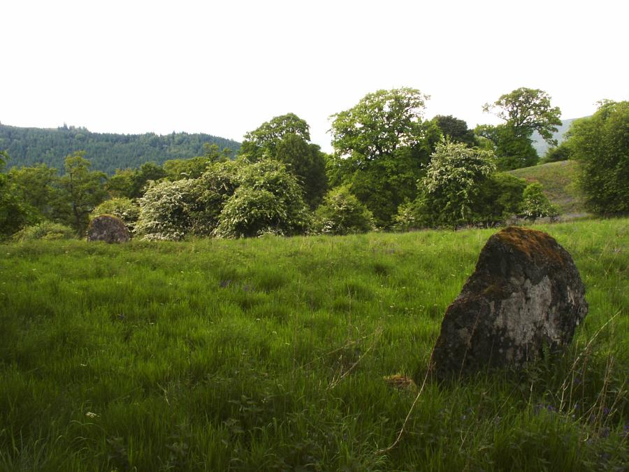The two stones, looking west.