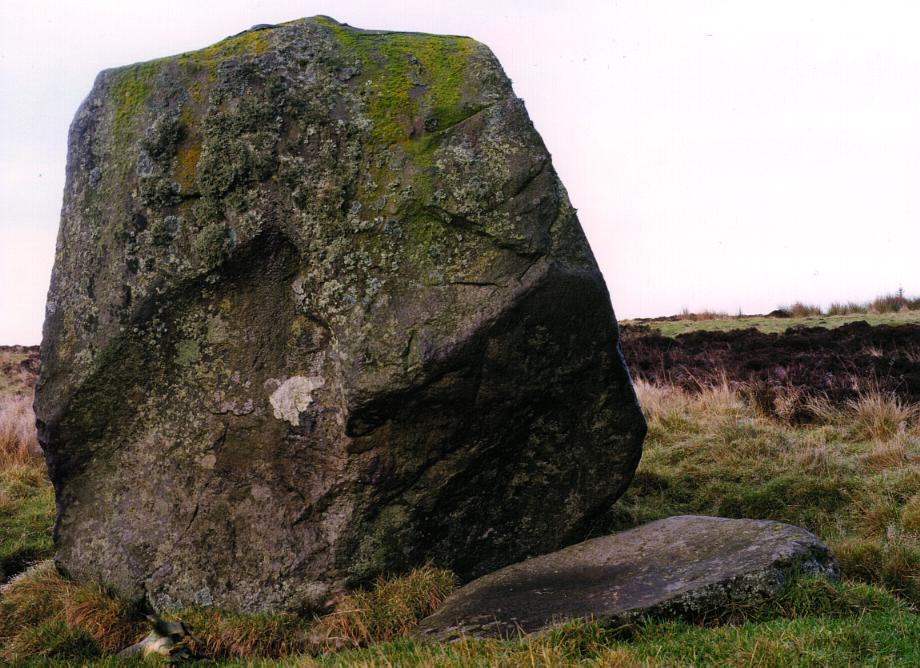 Another view of the Wallace stone, looking north.