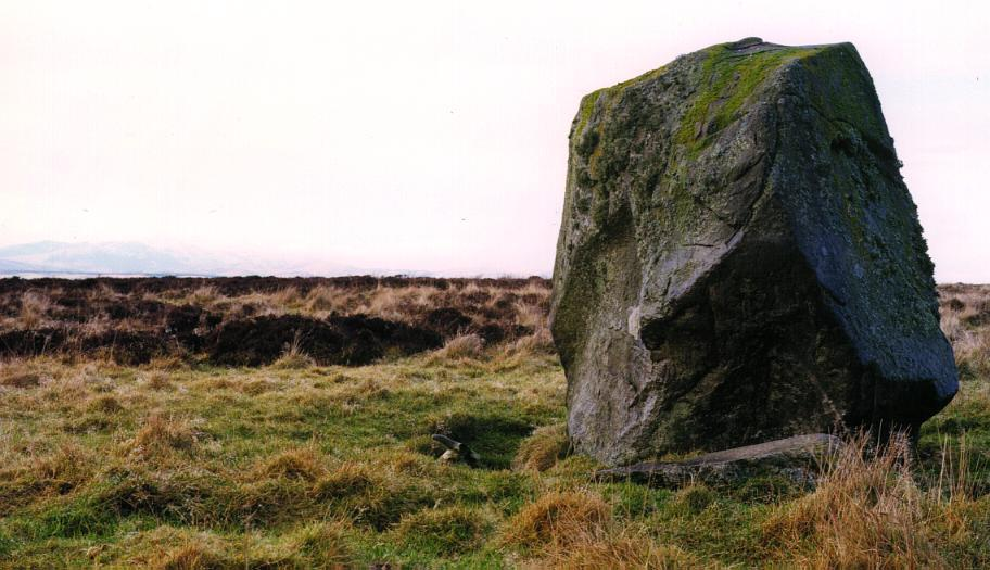 The Wallace stone looking northwest.