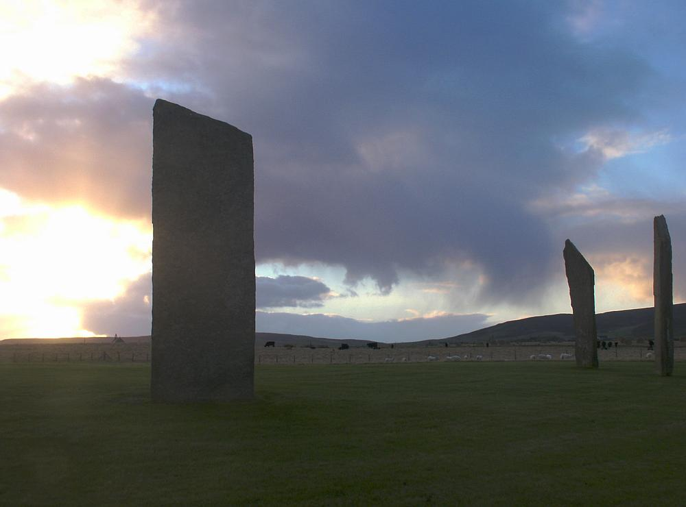 The southern stones at dawn.