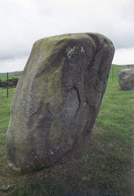 One of the larger stones at the southwest of the circle.