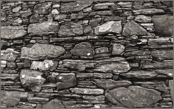 Detail of the dry stone walling. Built to last!